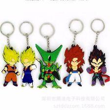 5Pcs Set Dragon Ball Z Cell Son Goku Vegeta Super Saiyan PVC keychain keyring