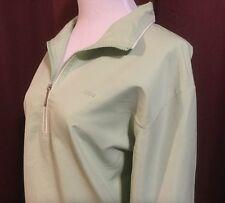 Izod Golf Tennis Pull Over Jacket Women's M Mint Green 1/4 Zip Side Pockets