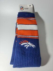 NFL Denver Broncos Crew Socks Large 10-13 NEW