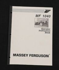 MASSEY-FERGUSON 1165 1445 1455 1455V TRACTOR MF 1040 LOADER OPERATORS MANUAL