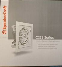 """New listing SpeakerCraft Css6 One 6.5"""" Square, In-Wall Speaker White"""