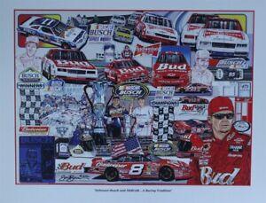 """2002 """" Anheuser-Busch and NASCAR...A Racing Tradition """" Original Sam Bass Print"""