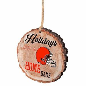 Cleveland Browns Christmas Tree Ornament Stump New - Holidays are a Home Game