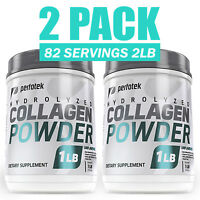 ▶ 2 Pack Collagen Peptides Hydrolyzed Anti-Aging Grass Fed Protein Powder 2lb