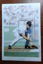 Stamp souvenier sheet - Republique de Guinee - Baseball - Call Ripkin - 1999