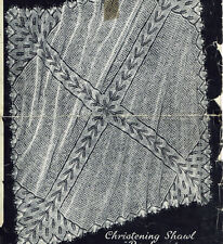 Vintage knitting pattern-how to make an intricate lace baby christening shawl