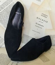 NEW Urban Outfitters Vagabond black Suede Pointy Toe Side Zip Flat Shoes 36