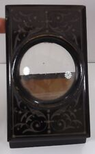 Antique Victorian Ebonised Mono Card Slide Viewer with 9x Cards of French Scenes