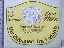 Aufkleber Sticker Hotel zum Stern - Familie Schwaiger - Bad Hofgastein (2644)