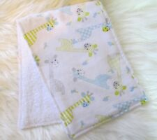 Baby Burp Cloth, GIRAFFES Flannellette / Ready to Ship / Handmade Great Gift