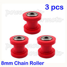 3PCS 8mm Chain Roller Pulley Tensioner Guide For Chinese Pit Dirt Bike CRF XR 50