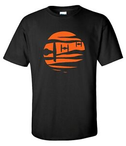 Tie Fighter Sunset starfighter Sunset Star Wars Movie Mens T-Shirt