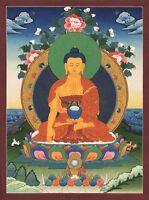 """Klasse Thangka Buddha Shakyamuni """"Kunstdruck"""" Nepal Bild Buddhismus T12"""