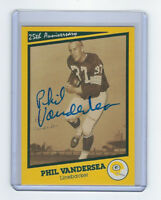 PACKERS Phil Vandersea signed SB I card AUTO Autographed Super Bowl I Green Bay