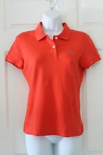 Lacoste 40 Small Summer Colorful Red Athletic Polo 3/4 Sleeve Polo Style Shirt