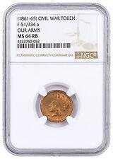 (1861-1865) United States Our Army Civil War Token NGC MS64 RB SKU46391