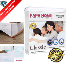 Mattress Pad Protector Queen Size Super Soft Waterproof Cover Bed Hiqh Quality