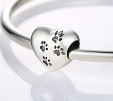 Sterling Silver Paw Print Charm. Authentically Stamped S925