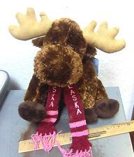 Alaska Friends MOOSE with Cute Scarf, Alaska Embroidered on it, new & unused