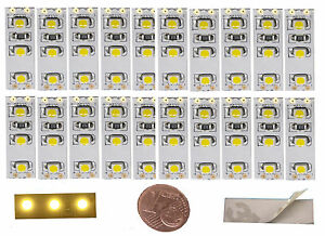 9,78€/m  -  20 St. LED MINI Hausbeleuchtung 2,5cm Modellbeleuchtung Bahnsteig