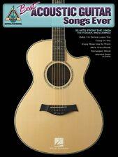 Best Acoustic Guitar Songs Ever Sheet Music Guitar Tablature Book NEW 000690859