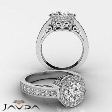 Radiante Diamante Redondo Ideal Anillo de Compromiso GIA i Color VS2 14k Oro