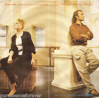"""PHIL COLLINS & MARILYN MARTIN - Separate Lives (UK 2 Tk 1985 7"""" Single PS)"""
