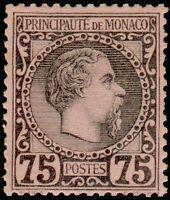 """MONACO N° 8 """"PRINCE CHARLES III  75 C"""" NEUF XX TTB"""