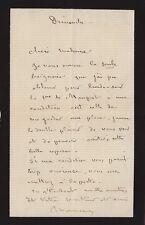 Maurice SAND  Lettre autographe signée à Juliette Adam.