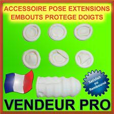 10 EMBOUTS PROTEGE DOIGTS POSE EXTENSIONS A CHAUD NEUF / VENDEUR PRO FRANCAIS