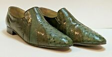 Genuine MiSter Leather Ostrich Shoes Handcrafted Spain Size 12