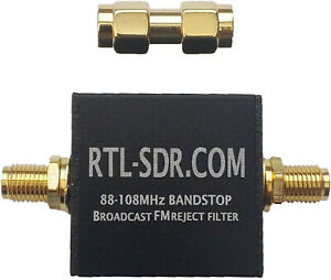 Broadcast FM Block Filter (88 - 108 MHz Block) By RTL-SDR Blog