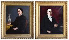 Portraits de monsieur et madame X fin XIXème par Célarié