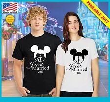 Disney Just Married Celebration Vacation Matching T-shirt Sold as a set o 2017