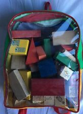 Blocks Of Letters And Shapes Colors Wooden Children Kids Learning