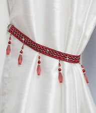 Crystal Beaded Curtain Tie Back -Matching Swags Available- Tiebacks & Holdbacks