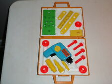 Vintage 1977 Fisher Price Tool Kit #924 Complete w/ Carrying Case, Working Drill