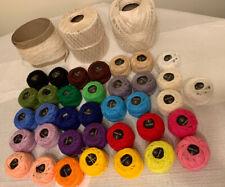 Big Lot of Multi-color & Off-White Crochet Thread