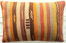 (40*60cm, 16*24cm) Textured handmade pillow cover natural dyes striped