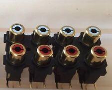 Audiolab 8000A / 8000P etc. quad 14mm RCA connector block - NEW x2pcs