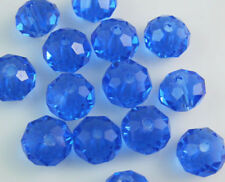 New 30pcs Faceted  Rondelle glass crystal #5040 6x8mm Beads Blue colors ZA