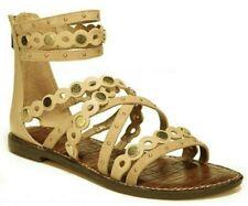 788c68b3e6bf Sam Edelman Geren Women s Studded Strappy Gladiator Sandals Natural Naked  Size 7