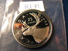 CANADA 1995 25 CENT GEM PERFECT COIN FROM MINT SET ID#R171