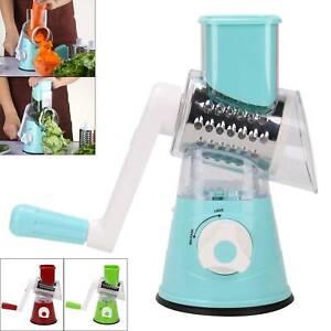 Multi-Manual Slicer Food Fruit Vegetables Fruit Cutter Rotary Grater 3 Blade
