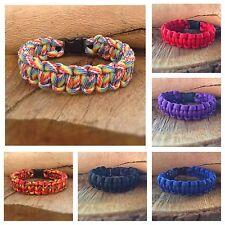 Cobra Tissage paracord Survie Bracelet Bracelet d'amitié couleurs diverses UK
