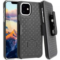 iPHONE 11 - CASE SWIVEL BELT CLIP ARMOR HOLSTER DROP-PROOF STAND COVER COMBO