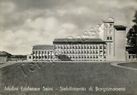 Cartolina di Borgomanero, stabilimento Molini Eridanea Saini - Novara