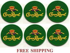 CROWN ROYAL REGAL APPLE CANADIAN WHISKY  SET OF 6  BAR SPILL MAT COASTERS NEW