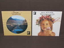 PAUL WINTER 2 LP RECORD ALBUMS LOT COLLECTION Wintersong & Canyon ALTO SAX MUSIC