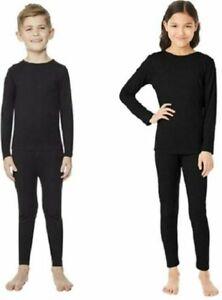 32 Degrees Heat Kid's Base Layer Set Black Size Small, Boys/Girls, Ski, Snow